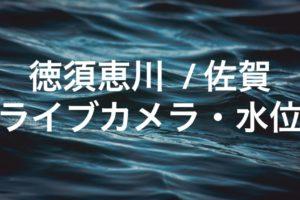 徳須恵川のライブカメラ・水位