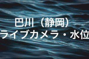 巴川(静岡)のライブカメラ・水位
