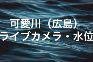 可愛川のライブカメラ・水位