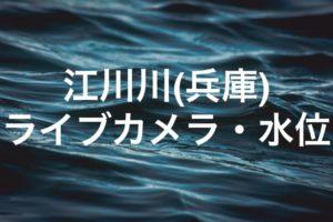 江川川(兵庫)のライブカメラ・水位