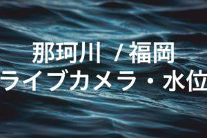 那珂川(福岡)のライブカメラ・水位