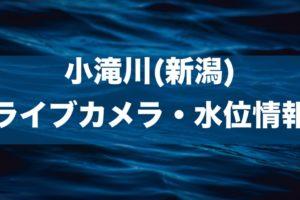 小滝川(新潟)のライブカメラ・水位