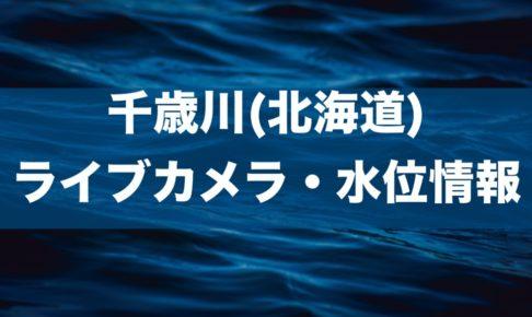 千歳川(北海道)のライブカメラ・水位