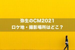 弥生のCM2021のロケ地・撮影場所はどこ?